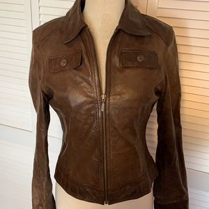 Mossimo Brown Genuine Leather Jacket